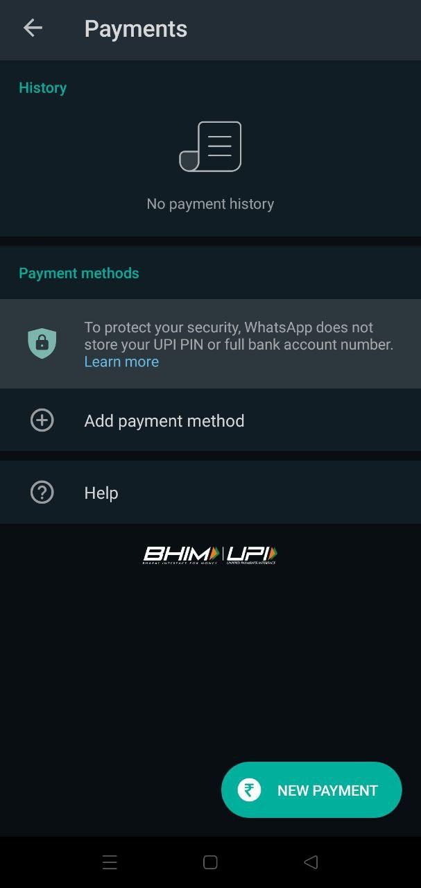 Whatsapp Payment Option