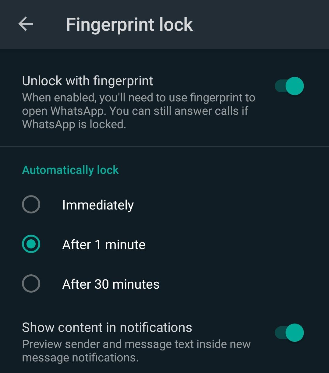 How to lock WhatsApp with fingerprint