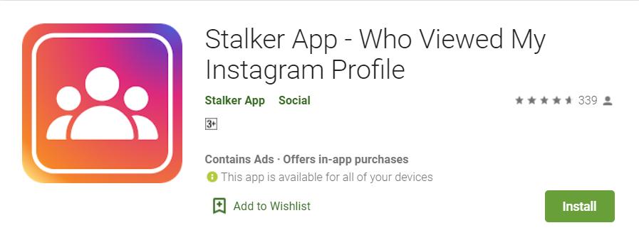Instagram stalker app