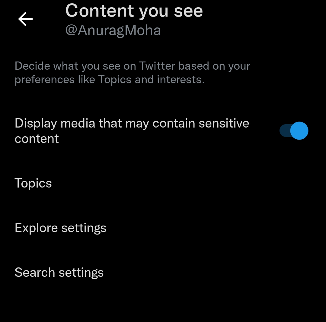 Display Sensitive Multimedia Content On Twitter